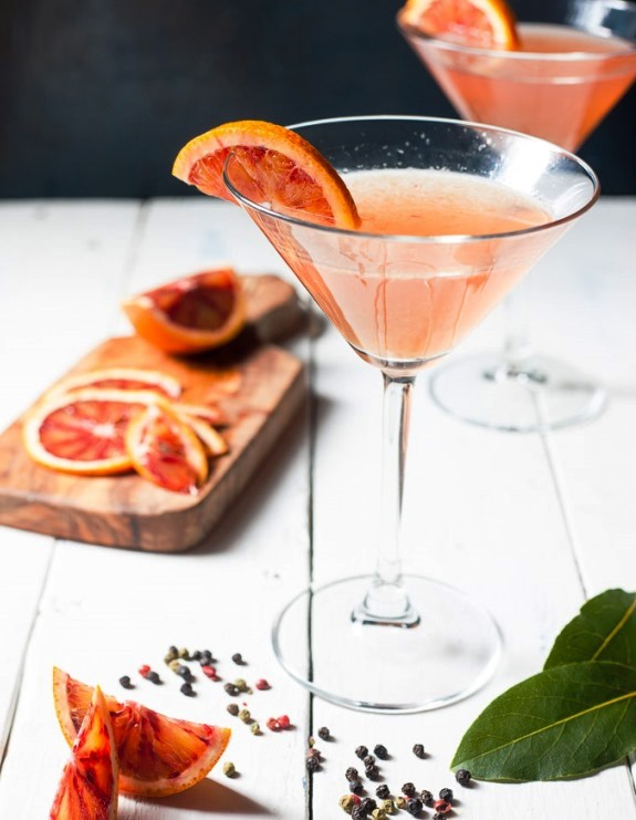 Blood Orange Gin Martinis