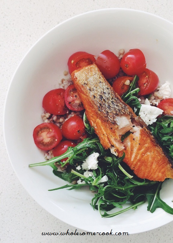 Crispy-Skin-Salmon-with-Buckwheat-Salad