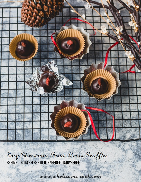 Easy Christmas Fruit Mince Truffles