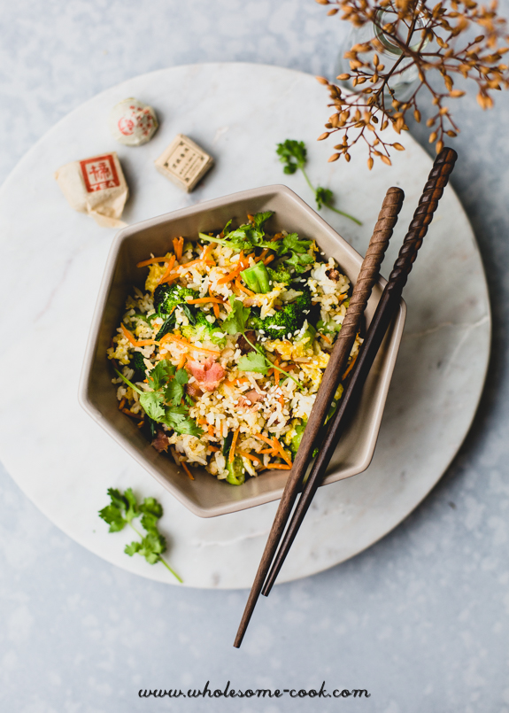 Leftover Christmas Ham Fried Rice
