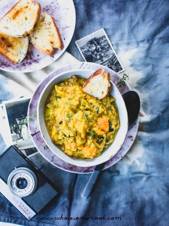 Polish Red Lentil and Vegetable Dahl - Grochowka