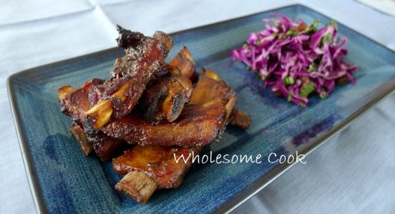 5 Ingredients: Sticky Five-Spice Pork Ribs with Red Cabbage Slaw