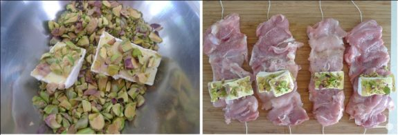 5 ingredients: Chicken parcels with Brie, pistachios and roasted beetroot salad