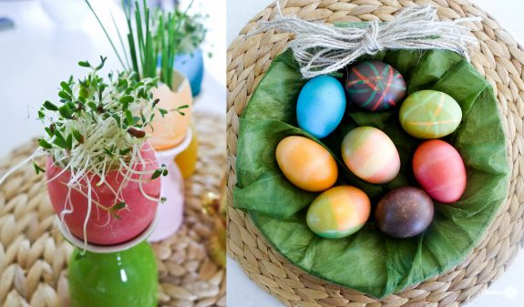 Easter Egg Colouring Tips and Edible Table Decoration Ideas ...