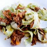 pulled spare beef rib ragu pasta
