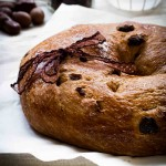 Chocolate sour cherry bread