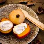 Poached Autumn Fruits with Chestnut Cream