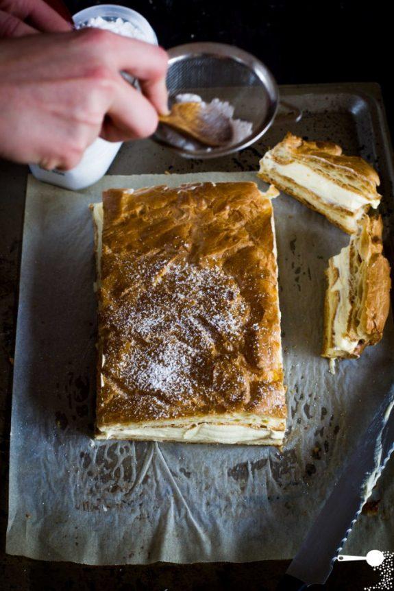 Karpatka custard slice Polish recipe