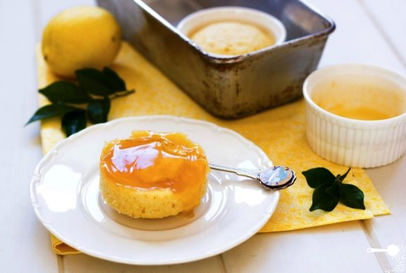 Steamy Self-saucing Lemon Curd Puddings
