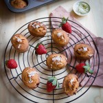 Strawberry Coconut and Lime Friands (gluten and dairy free)