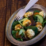 Crumbed Bocconcini and Cucumber Salad
