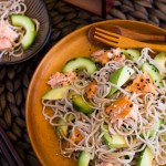 Smoked Salmon Soba Noodle Salad