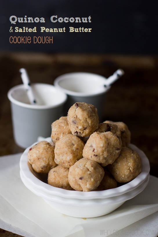 Quinoa, Coconut and Salted Peanut Butter Cookie Dough