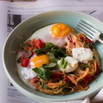 Noodly Baked Eggs
