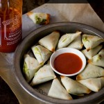 5 Ingredients Coconut and Edamame Samosas