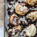 Grilled Cauliflower with Eggplant Jam and Tahini Sauce