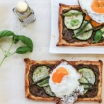 Imperfect Zucchini, Asparagus and Eggplant Dip Tarts