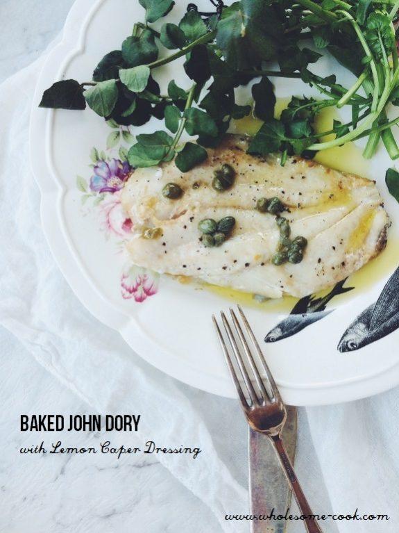 Baked John Dory with Lemon Caper Dressing (1)