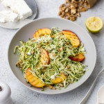 Zoodles Grilled Peach and Feta Salad