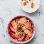 Nectarine Almond 'Crumble' with Cinnamon Yoghurt