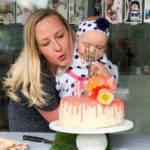 Strawberries and Cream Layer Cake with 'Paint Drip' Icing | Mia Turns One!