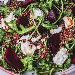Warm Beetroot Quinoa and Rocket Salad