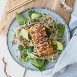 Salty-Sweet Miso-Glazed Salmon and Soba Bowls