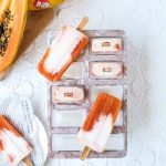 Ruby Rise Red Papaya and Coconut Milk Ice Pops