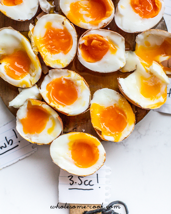 Recipe for soft boiled eggs